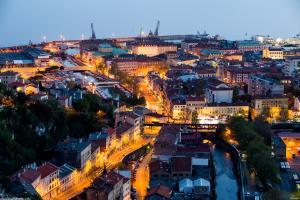 The Trsat fortress above Rijeka: panorama of Rijeka