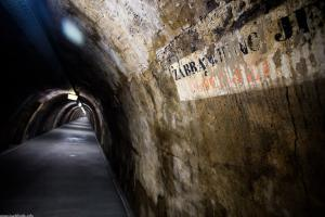 The tunel Gric: 350 meters long, 3.2 meters wide (5.5 at its widest), and it's 2100 square meters large.