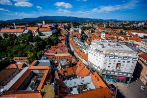 Zagreb 360 – viewpoint Zagreb Eye is located on the 16th floor of the skyscraper in the center of the city, and it shows a 360 degree view of Zagreb.