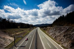 Highway between Zagreb and Rijeka