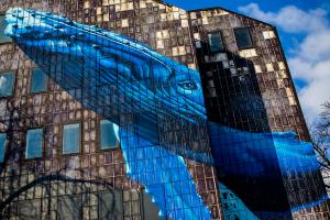 Murals in Zagreb: Whale